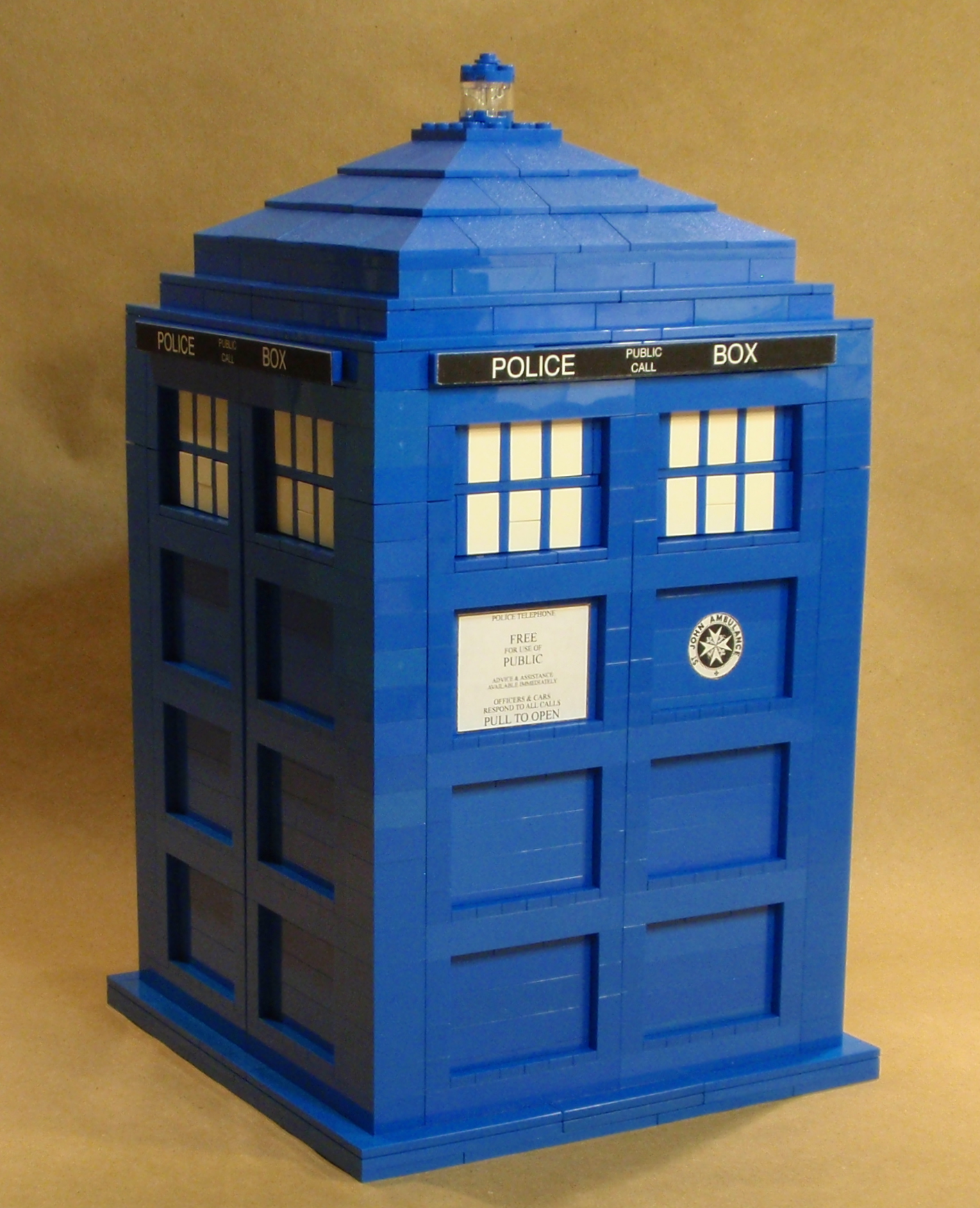 how to build a lego tardis instructions