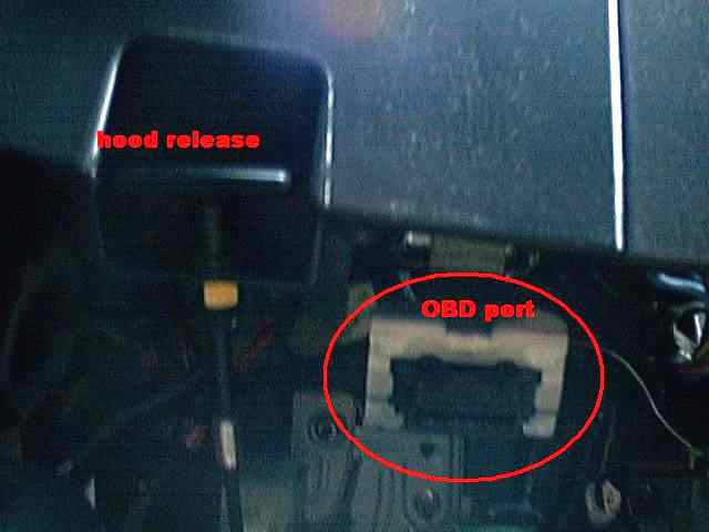 Location of  OBD port.